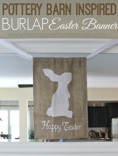 Pottery Barn Inspired Easter Banner so easy to make!!