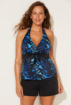36f76aef941ac Buy Sapo Halter Banded Shortini at SwimSuitsForAll.com. Easy returns and  exchanges. Check