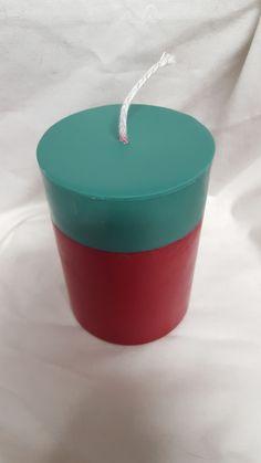 "4"" Pillar 2 Tone Candle - Soy Wax - Christmas Hearth, $12.00"
