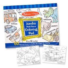 Melissa and Doug 4226 - Jumbo Malposter 50 Motive Blau: Amazon.de: Spielzeug