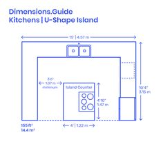 kitchen u shape with island / kitchen u shape ; kitchen u shape layout ; kitchen u shape modern ; kitchen u shape small ; kitchen u shape with island ; kitchen u shaped design ; kitchen u shape layout with island ; kitchen u shape layout small Kitchen Layout Plans, Kitchen Layouts With Island, Kitchen Floor Plans, Kitchen Flooring, Kitchen Islands, Kitchen On A Budget, Home Decor Kitchen, Kitchen Furniture, Kitchen Interior