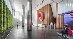 Commissioned artwork in 888 Boylston Street's office lobby enhances both the building's architecture and tenant experience. Lobby Interior, Interior Architecture, Interior Design, Studios Architecture, South Beach Hotels, Office Lobby, Lobby Design, Hotel Lobby, Best Sites