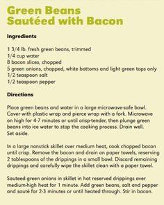 Green Beans Sautéed with Bacon