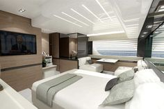 Renderings Of Ferretti 550 Show New Rounded Interior Look