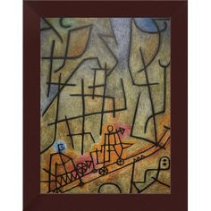CONQUEST OF THE MOUNTAIN 1939 PAINTING BY PAUL KLEE REPRO