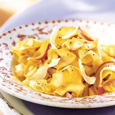 Yellow Squash Ribbons with Red Onion and Parmesan | MyRecipes.com