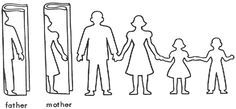 "Paper Doll Template | ...Fold an 81/2""x11"" sheet of paper in half 3 times. Cut out dolls ..."