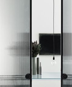 fluted glass panels