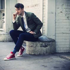 Marc By Marc Jacobs Blazer, Converse Shoes, H Chinos, H Knit Tie, H Pocket Square