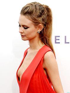Behati Prinsloo's Khaleesi-esque braided ponytail