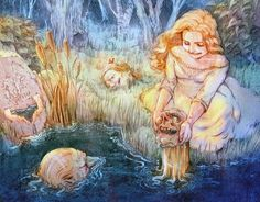 Patrick Sheehan Illustration, Three Heads in a Well, Folklore