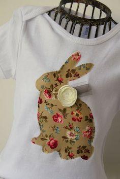 Make a Bunny Shirt. So easy and cute.