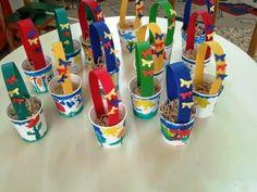 Πάω στο 1o Νηπι@γωγείο       Νέας Φώκαιας: ΠΑΣΧΑΛΙΝΕΣ ΚΑΤΑΣΚΕΥΕΣ: ΚΑΛΑΘΑΚΙΑ Birthday Candles, Easter, Blog, Easter Activities