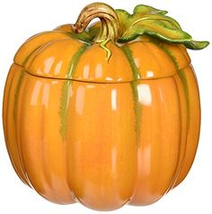 Cosmos 10365 Fine Porcelain Light off Lid Pumpkin Box 618Inch >>> See this great product.