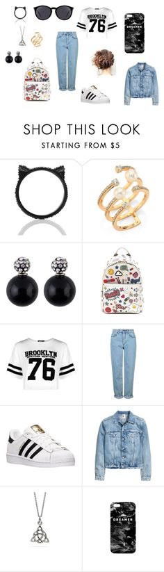 """""""The world is wrong"""" by withered-ros on Polyvore featuring moda, Kate Spade, Hueb, Anya Hindmarch, Boohoo, Topshop, adidas, Mr. Gugu & Miss Go y Yves Saint Laurent"""
