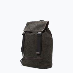 ZARA - MAN - BROWN BACKPACK Brown Backpacks, Zara Man, Fall Winter 2014, Backpack Bags, Man Bags, Menswear, Inspirational Photos, My Style, Germany
