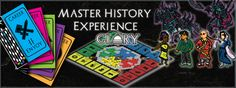 Glory - GLORY is a dynamic educational board game that combines elements of deck-building, Trivial Pursuit, role-playing and real-time strategy games.