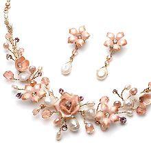 Rose Bridal Jewelry Set