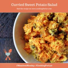 Curried Sweet Potato Salad Recipe  http://cookingforluv.com/curried-sweet-potato-salad/