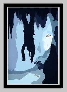 Star Wars The Empire Strikes Back Luke & Wampa Poster | From LynxCollection, via Etsy