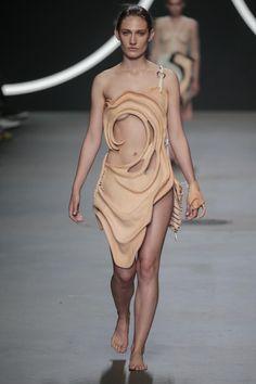 Fatma Kizil Human Human, Vogue Fashion, Wearable Art, Catwalk, Construction, Leather, Dresses, Design, Building