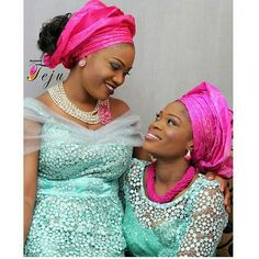 Nigerian Wedding: Check Out Over Uber Gorgeous & Colorful Ore-iyawo Aso-ebi Styles African Wear, African Women, African Fashion, African Style, Nigerian Outfits, Nigerian Clothing, Nigerian Fashion, Nigerian Weddings, African Weddings