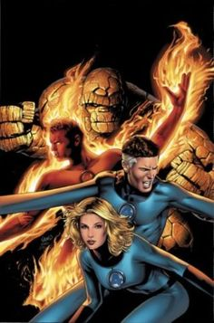 Fantastic Four: The Thing, Human torch, Mr. Fantastic, The Invisible Woman Marvel Universe, Marvel Comics Art, Marvel Dc Comics, Comic Book Characters, Marvel Characters, Comic Character, Comic Books, Comic Art, Fantastic Four Marvel