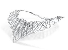 Guilloche Necklace by alienology on Shapeways