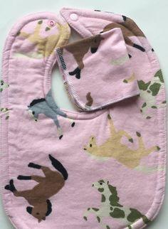Baby girl bib pink horse pony baby western bib by BeastiesBabies