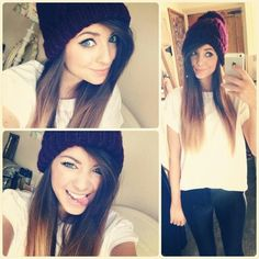 Love her outfit! Zoe Sugg (Zoella) is so cute Zoella Beauty, Hair Beauty, Cute Hairstyles, Straight Hairstyles, Zoella Hairstyles, Zoella Style, Zoella Outfits, Outfits 2014, Fall Outfits