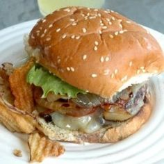 Classic Cheeseburger with Grilled Onions