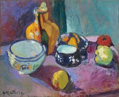 Dishes and Fruit,1901 - Henri Matisse.