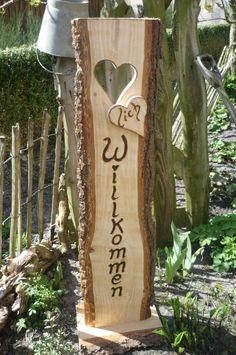 Buchstaben & Schriftzüge - ♥lich Willkommen ♥ Türschild ♥ - ein Designerstück von Annegret-Lindhorst bei DaWanda