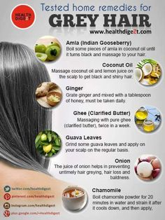 Remedies for grey hair....