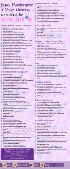 Spring Cleaning & Home Maintenance Checklist