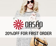 Why Buy at Oasap.com?Oasap is a global online store dedicated to high-street fashion by offering more than 10,000 of women's apparel, bags, shoes, jewellery, accessories, etc. Oasap is loved by thousands of fashionistas from lookbook.nu, pinterest.com and chictopia.comFree shipping worldwide20% off