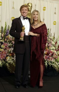 Barbra Streisand presented Robert Redford with an honorary Academy Award for Lifetime Achievement in 2002.