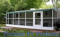 Browse our collection of Portable RV Awnings & Screenrooms. Mobile Home Parts Store has all of the mobile home and rv parts you will ever need! Camper Life, Rv Life, Mini Camper, Rv Screen Rooms, Motorhome, Rv Shelter, Mobile Home Parts, Portable Carport, Rv Carports