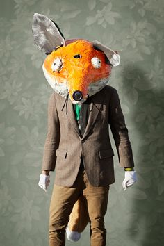 renard the fox costume head thats freaky and odd fancy dress photo fun