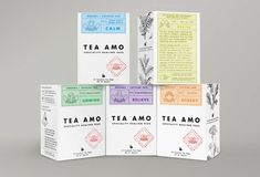 Tea Amo - interesting take on #branding and #packaging for #tea as an alternative to medicinal treatment