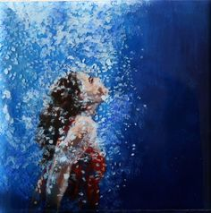 Meditative  Swimmer Series  Original painting   6 x by scoutcuomo, $80.00