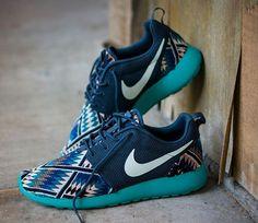 Nikes Roshe Run Aztec Tribal | cool kicks | sneakers | gym shoes