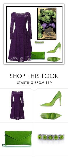 """""""Hulk"""" by adelinejaned on Polyvore featuring Giamba and Pretty Lavish"""