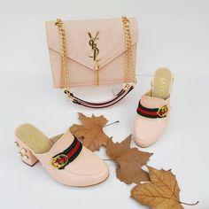 Gucci & YSL 2448 - Çanta, Topuklu Terlik Kombin