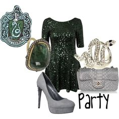 """""""Slytherin Party"""" by m4d-hatt3r on Polyvore"""