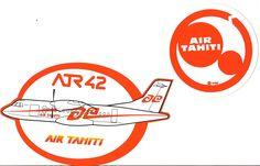 Air Tahiti ATR 42 Sticker and vintage sticker