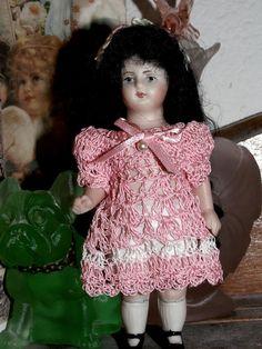 """Doll Dress & Pants for 3.5-4"""" Bisque Miniature Mignonette Antique Dollhouse Doll #GracesMorningGlories"""