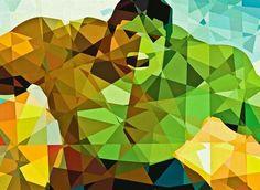 Incredible Hulk - Marvel Geometric Superheroes by Eric Dufresne