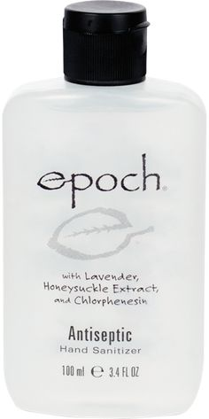 Epoch Antiseptic Hand Sanitizer:  Smells amazing, dries quickly and works wonders to keep those germs away! Safe to use during and after pregnancy too! Click to purchase today!