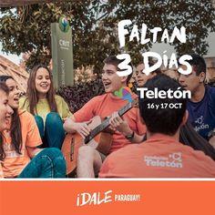 Ya llega el momento de darnos fuerzas entre todos diciendo DALE PARAGUAY!  Faltan 3 días para la Teletón juntos lo podemos lograr. #DaleParaguay